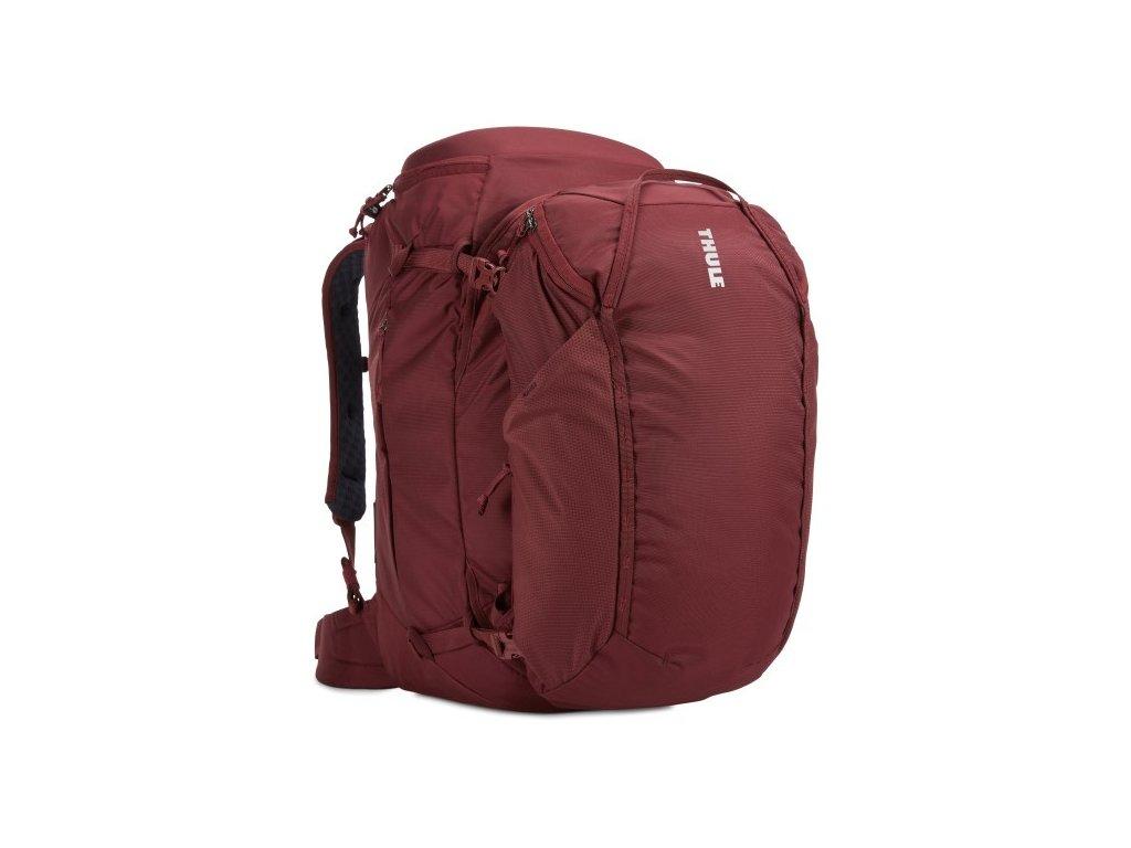 Thule Landmark batoh 60L pro ženy TLPF160 - tmavě červený  + LED svítilna