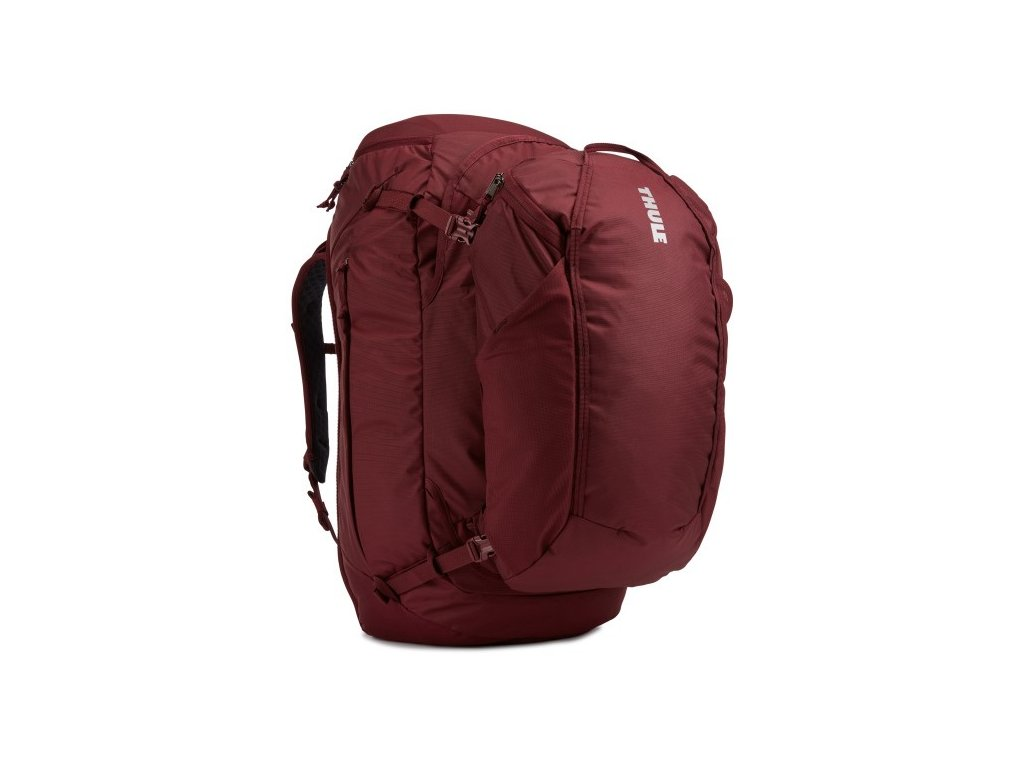 Thule Landmark batoh 70L pro ženy TLPF170 - tmavě červený  + LED svítilna