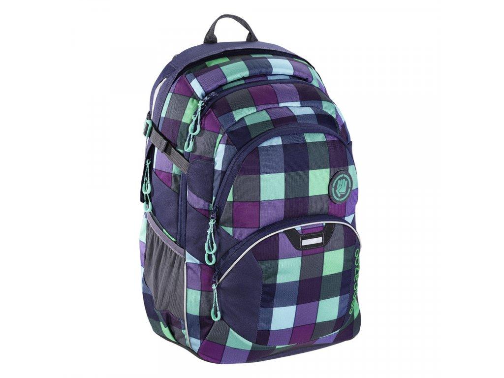 Školní batoh Coocazoo JobJobber2, Green Purple District  + LED svítilna
