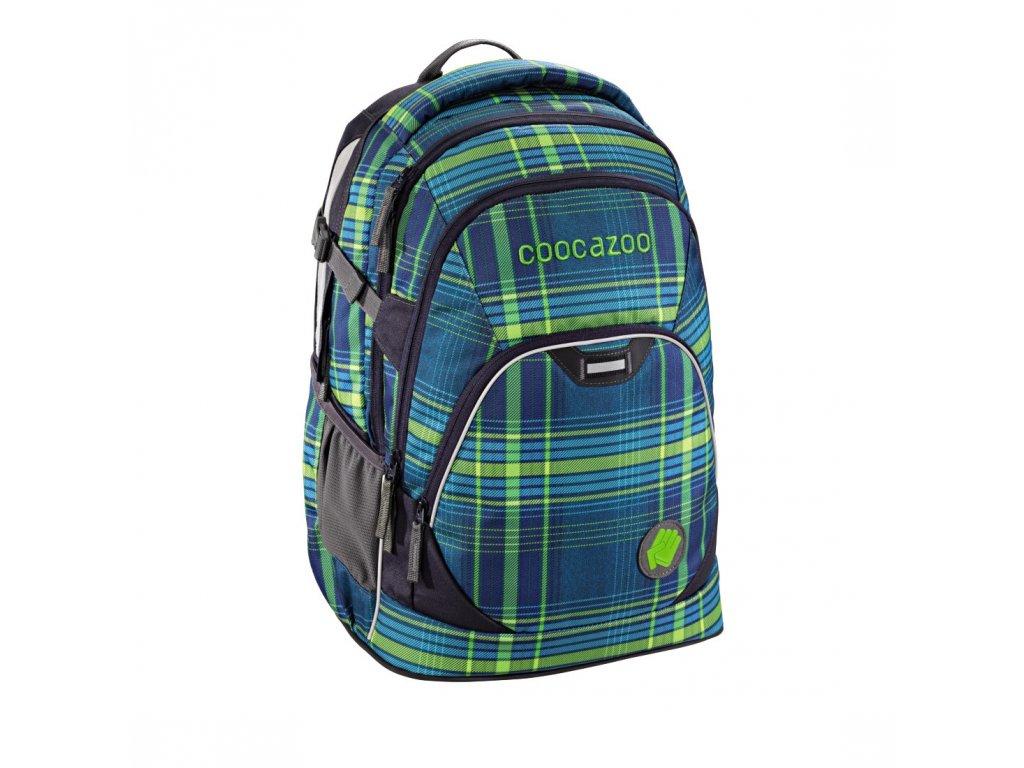 Školní batoh Coocazoo EvverClevver2, Walk The Line Lime  + 5 % sleva po registraci + LED svítilna