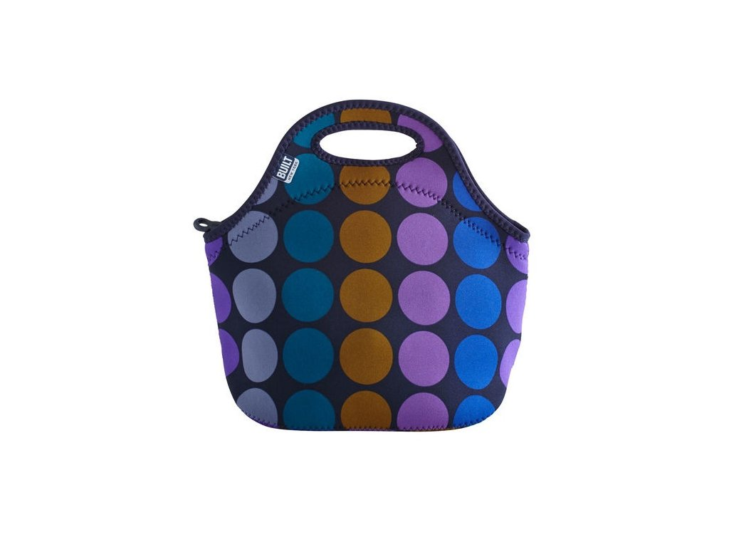 Built Gourmet Getaway Lunch Tote Plum Dot