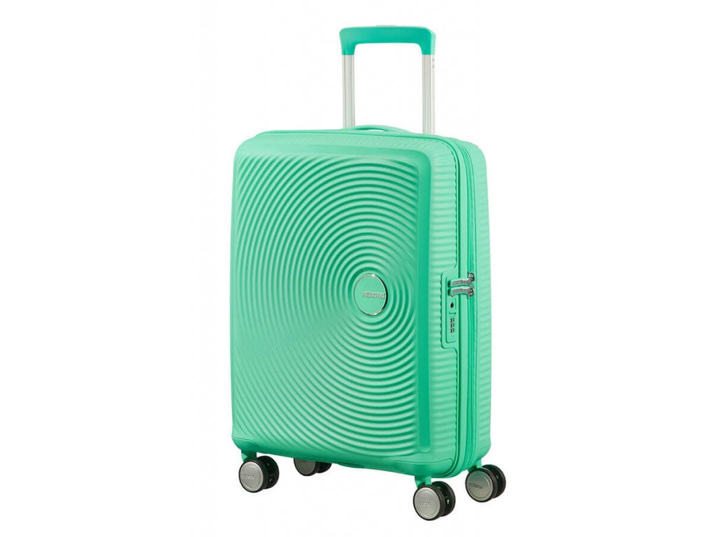 American Tourister SOUNDBOX S 55/20 TSA EXP - DEEP MINT  + LED svítilna