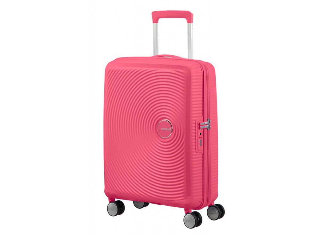 American Tourister SOUNDBOX S 55/20 TSA EXP - HOT PINK  + LED svítilna