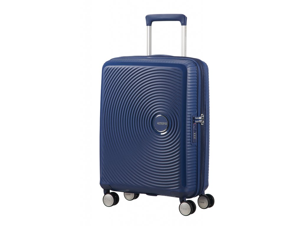 American Tourister SOUNDBOX S 55/20 TSA EXP - MIDNIGHT NAVY  + LED svítilna