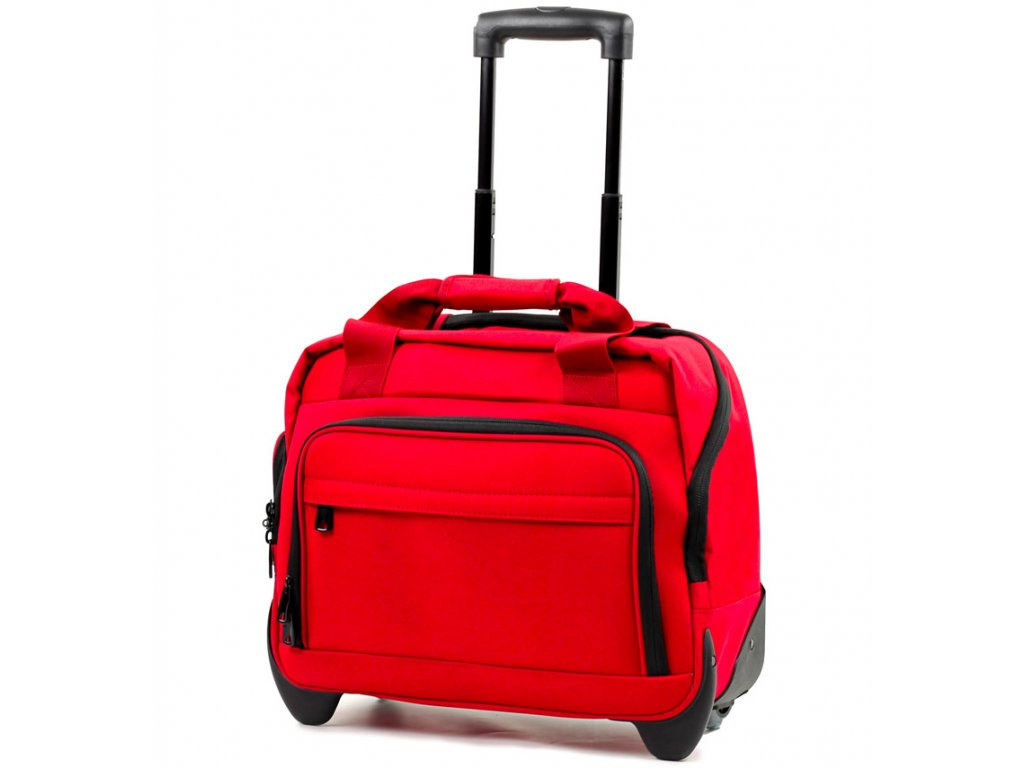 Kufr příruční na notebook MEMBER'S CM-0034 - červená  + LED svítilna