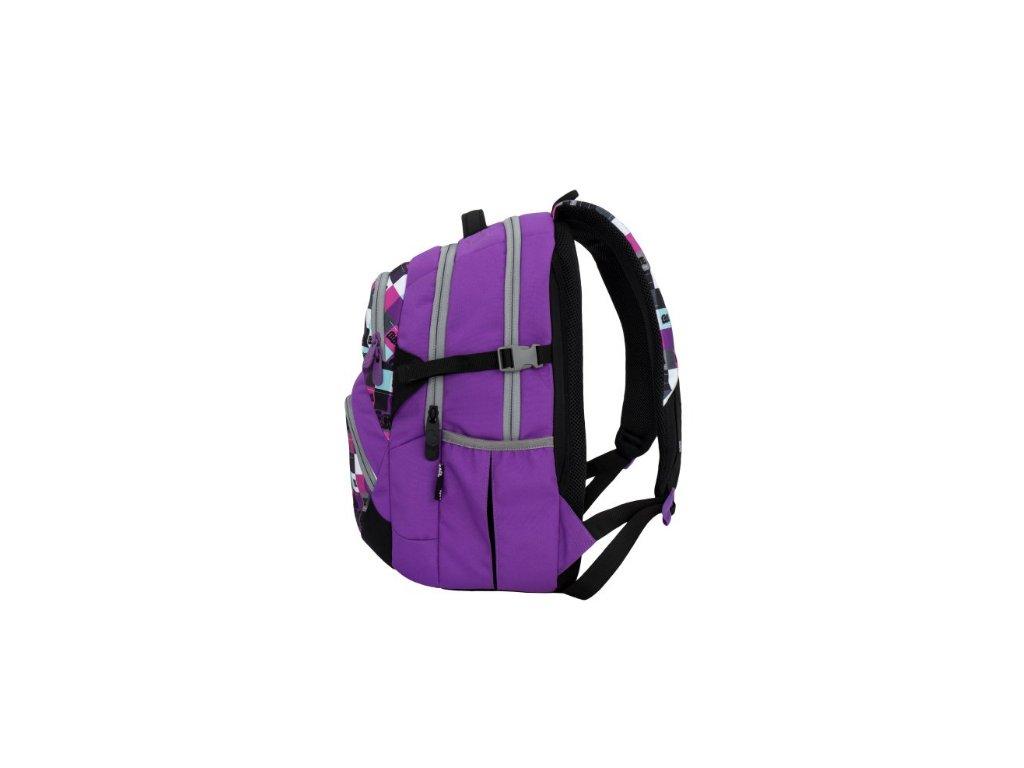 ... Bagmaster THEORY 6 A VIOLET Dívčí školní batoh pro třetí třídu + LED  svítilna ... 4f6830b1fa