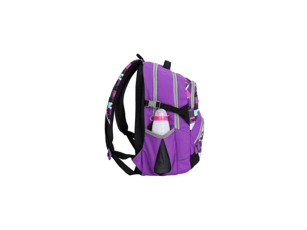 bf069af7e9a ... Bagmaster THEORY 6 A VIOLET Dívčí školní batoh pro třetí třídu + LED  svítilna ...