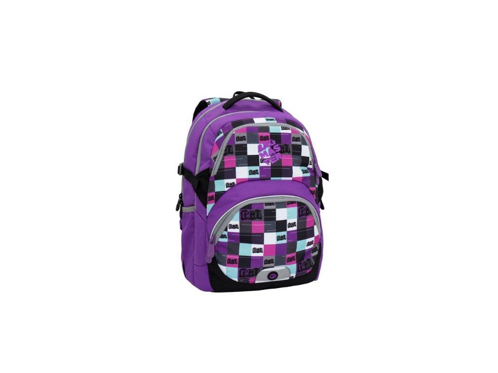 cb2057544b7 Bagmaster THEORY 6 A VIOLET Dívčí školní batoh pro třetí třídu + LED  svítilna