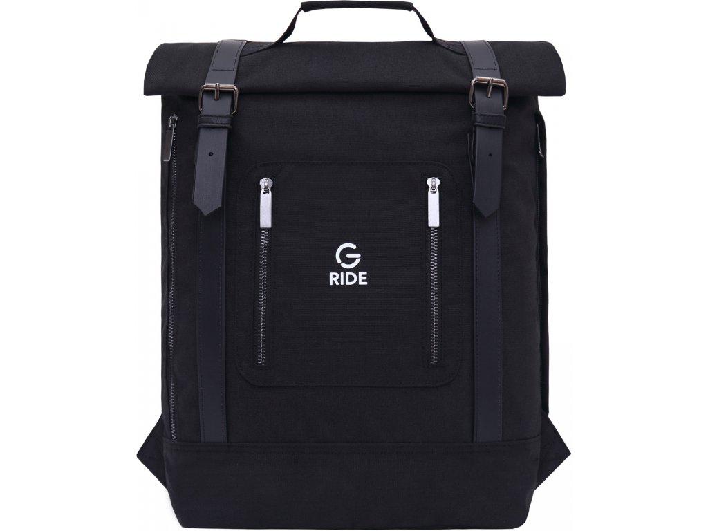 G.RIDE batoh BALTHAZAR black essentiel line  + LED svítilna