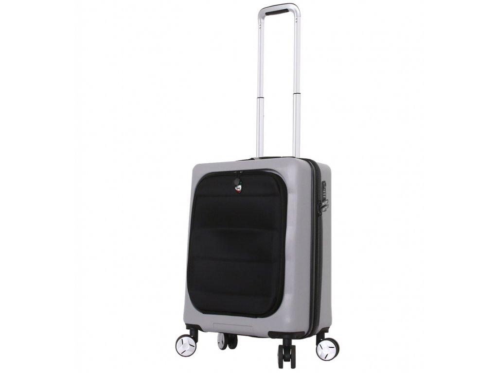 Cestovní kufr MIA TORO M1703/3-S - stříbrná  + LED svítilna