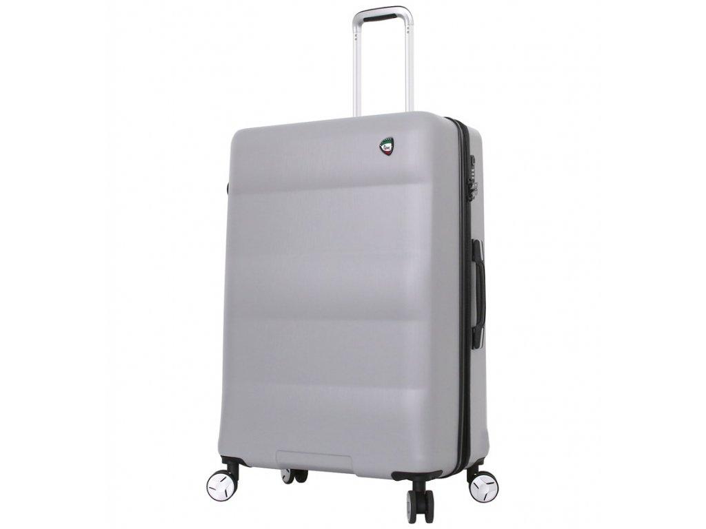 Cestovní kufr MIA TORO M1703/3-L - stříbrná  + LED svítilna