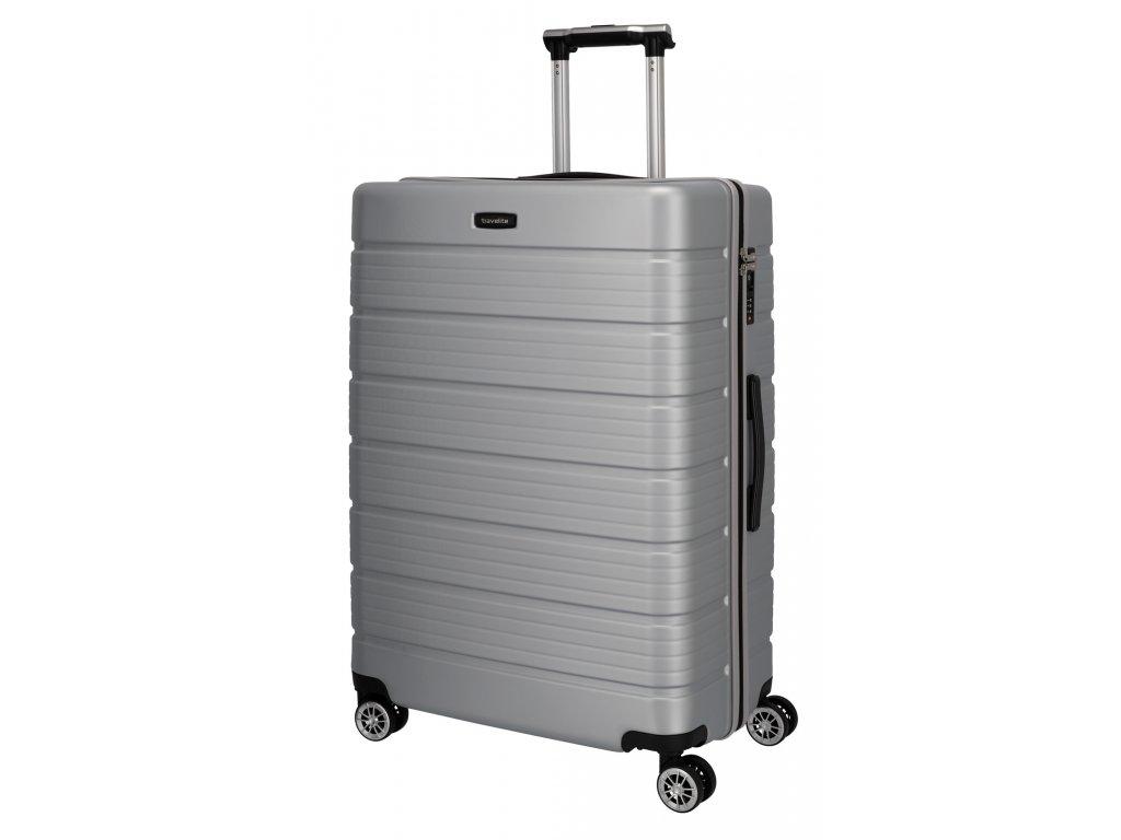 Travelite Soho 4w L Silver  + LED svítilna