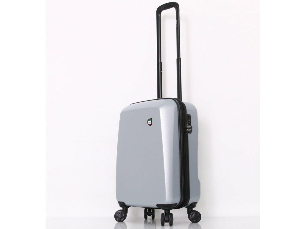 Cestovní kufr MIA TORO M1713/3-S - stříbrná  + LED svítilna