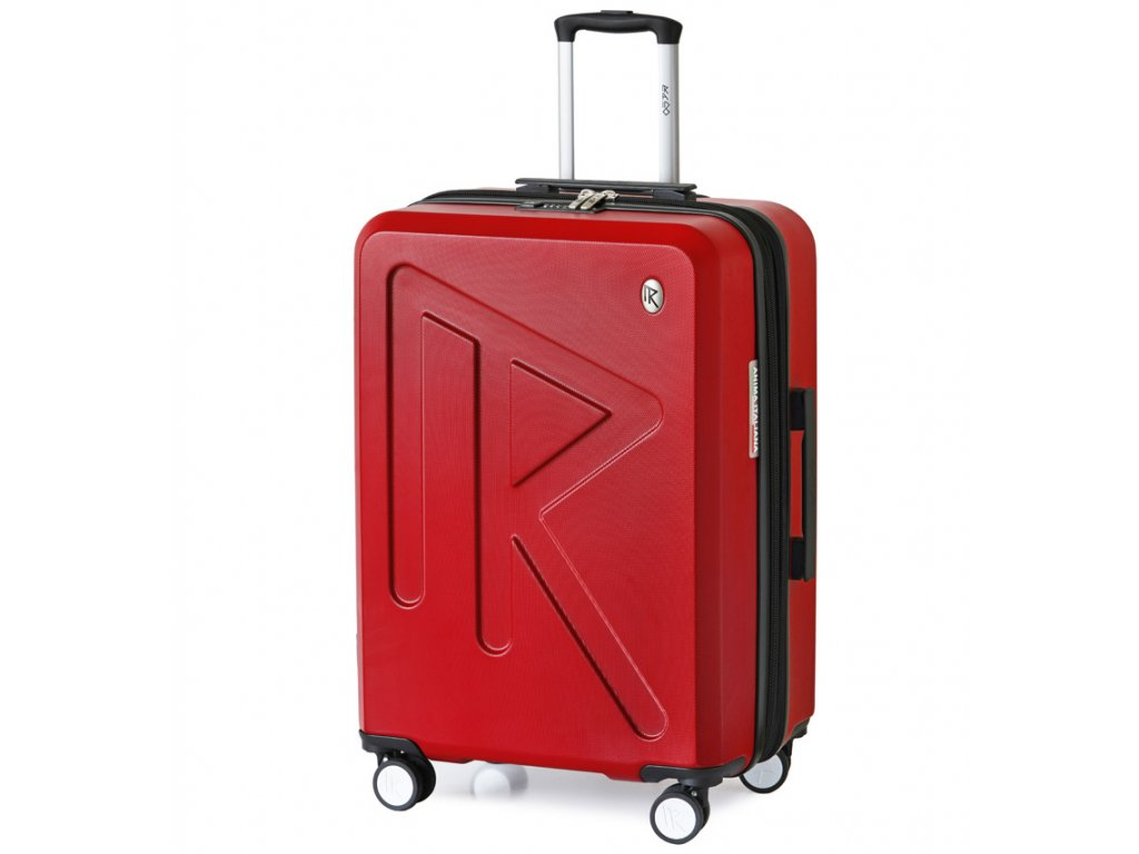 Cestovní kufr Raido Numero Uno Red Mood Line M  + LED svítilna
