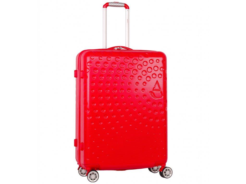 Cestovní kufr AEROLITE T-565/3-M ABS - červená  + LED svítilna