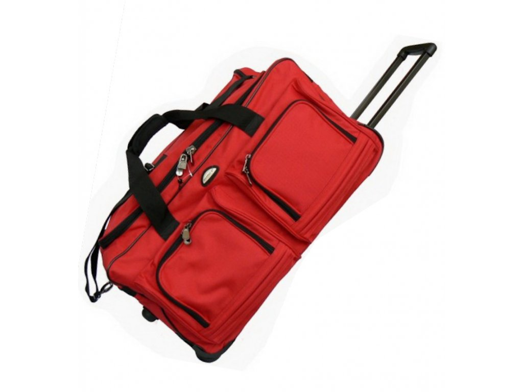 Cestovní taška na kolečkách MEMBER'S TT-0005 - červená