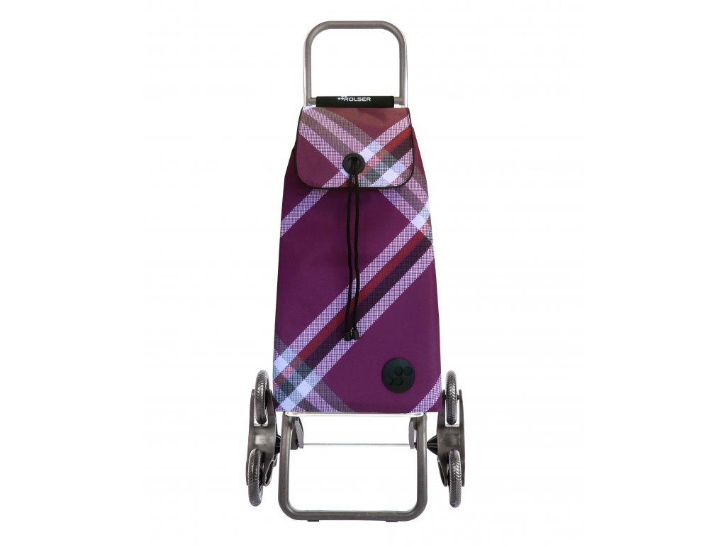 Rolser I-Max Bora Rd6 nákupní taška s kolečky do schodů, vínová