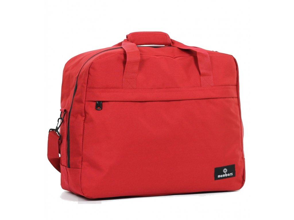 Cestovní taška MEMBER'S SB-0036 - červená