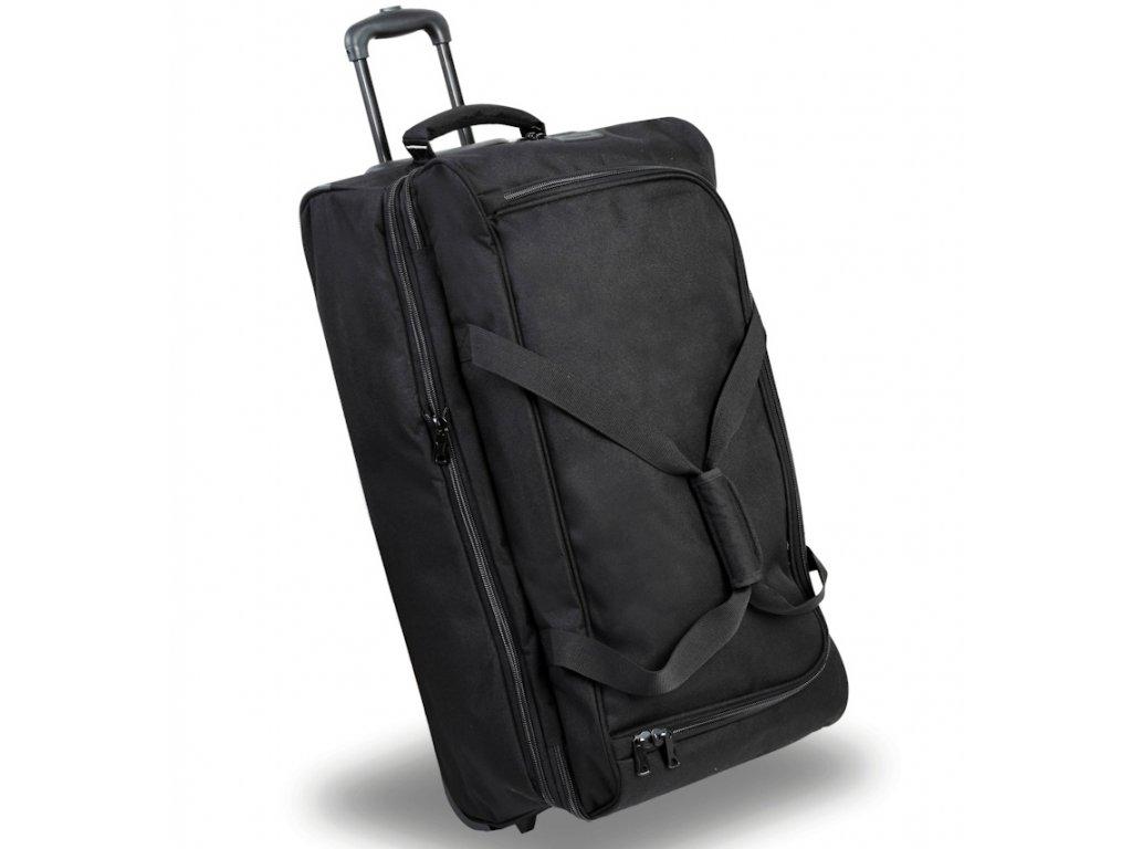 Cestovní taška na kolečkách MEMBER'S TT-0032 - černá  + LED svítilna