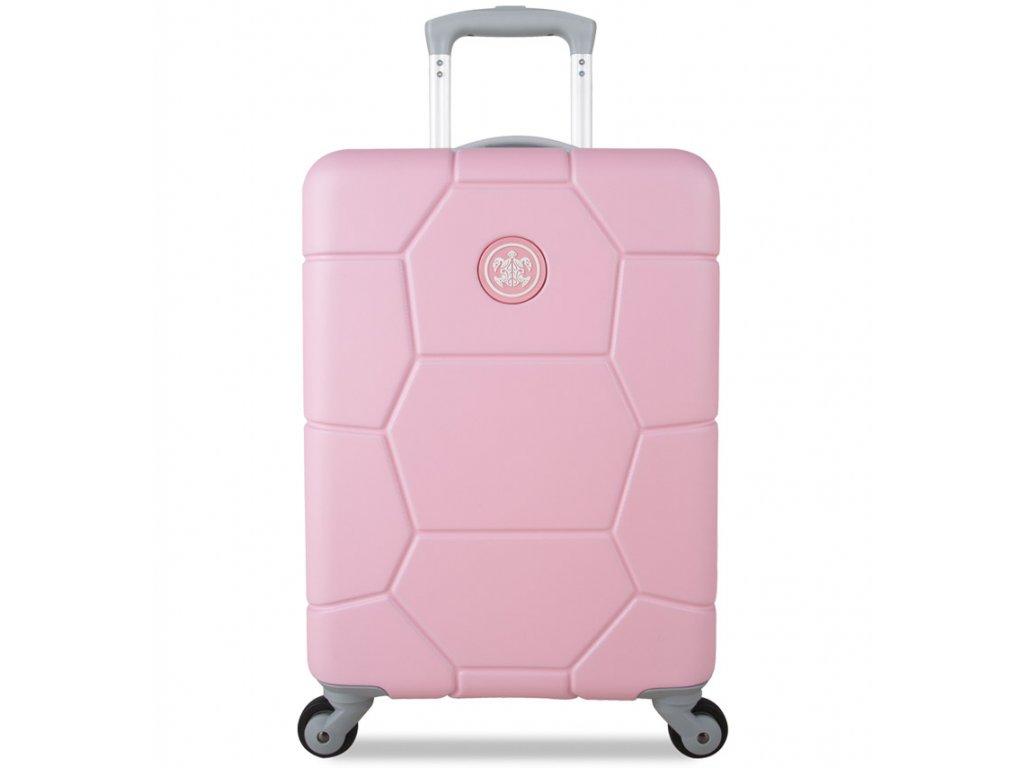 Kabinové zavazadlo SUITSUIT® TR-1231/3-S ABS Caretta Pink Lady  + LED svítilna