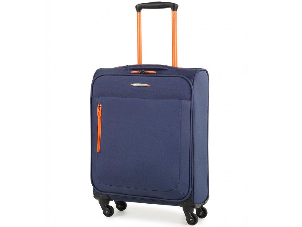 Kabinové zavazadlo MEMBER'S TR-0137/3-S - modrá  + LED svítilna
