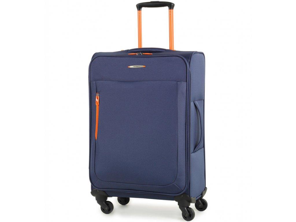 Cestovní kufr MEMBER'S TR-0137/3-M - modrá  + LED svítilna