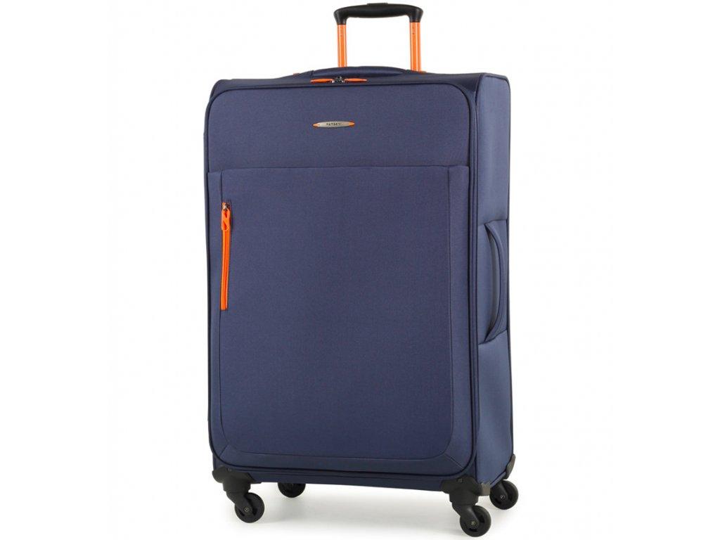 Cestovní kufr MEMBER'S TR-0137/3-L - modrá  + LED svítilna