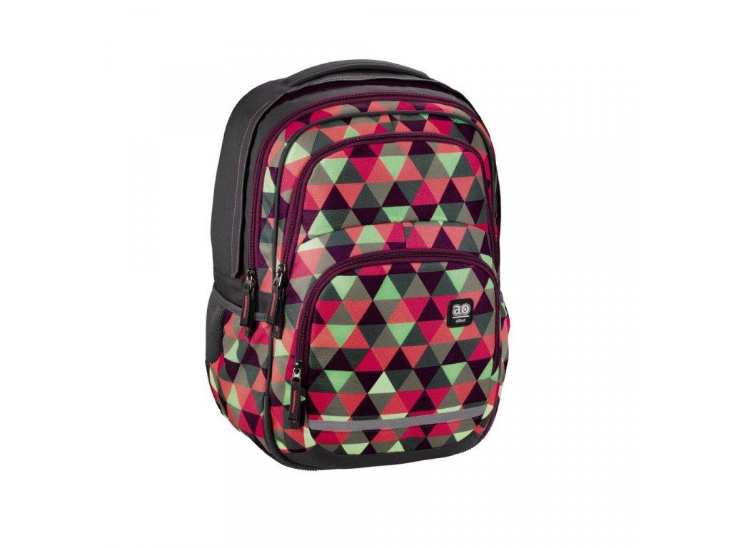 Školní batoh All Out Blaby, Happy Triangle  + LED svítilna