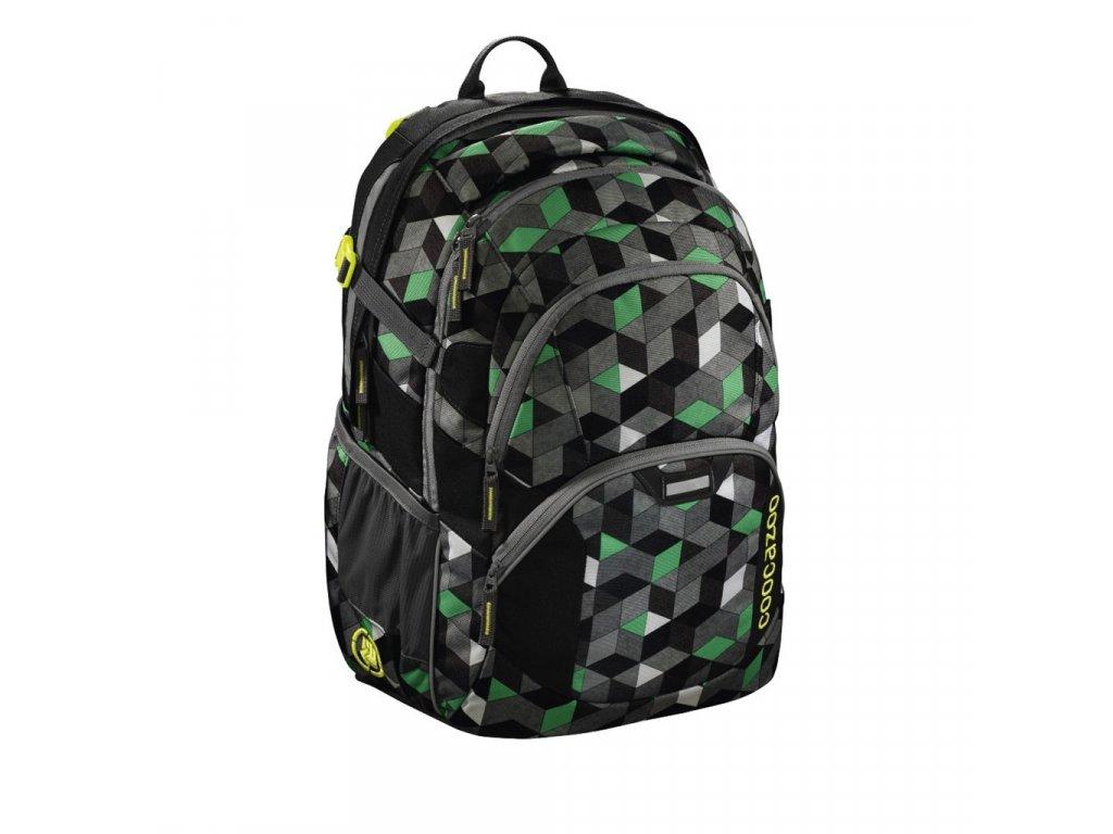 Školní batoh Coocazoo JobJobber2, Crazy Cubes  + 5 % sleva po registraci + LED svítilna