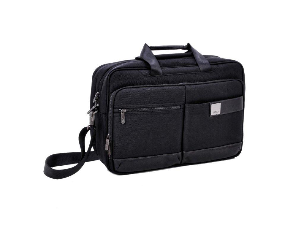 Titan Power Pack Laptop Bag L Black  + LED svítilna