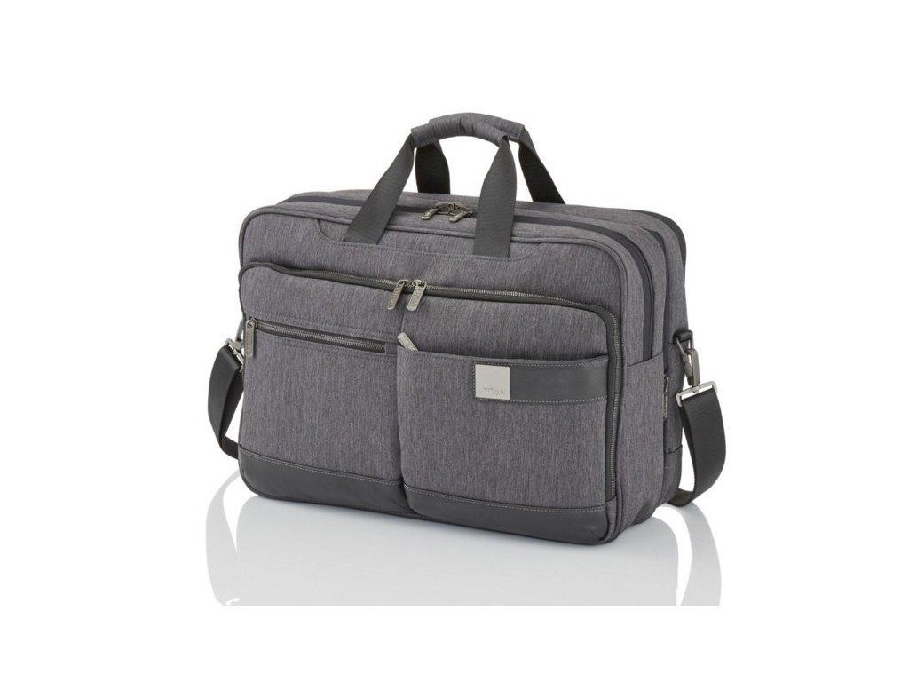 Titan Power Pack Laptop Bag L Anthracite  + LED svítilna