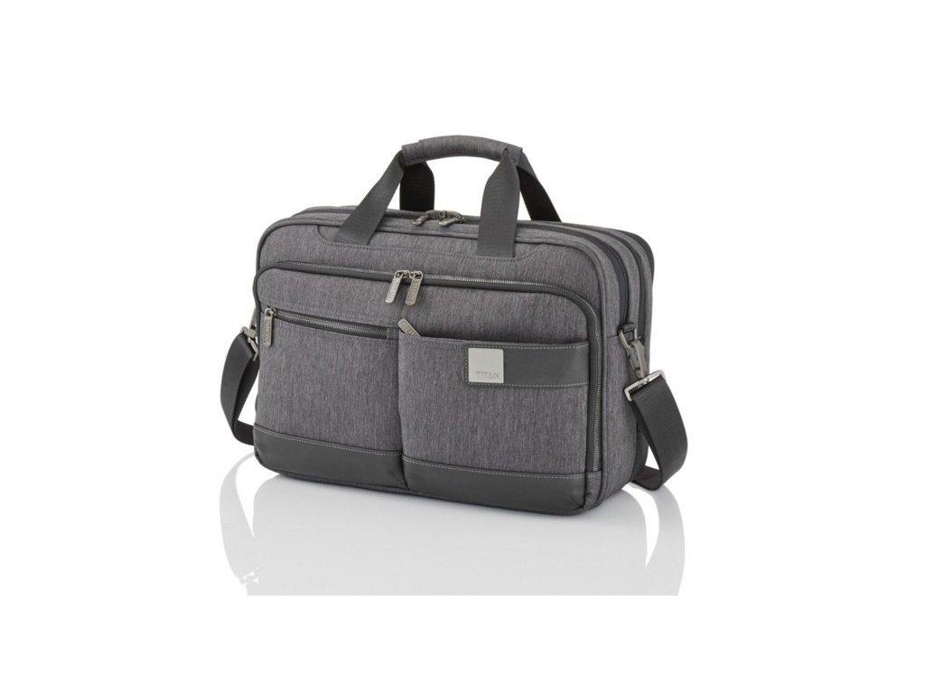 Titan Power Pack Laptop Bag S Anthracite  + LED svítilna