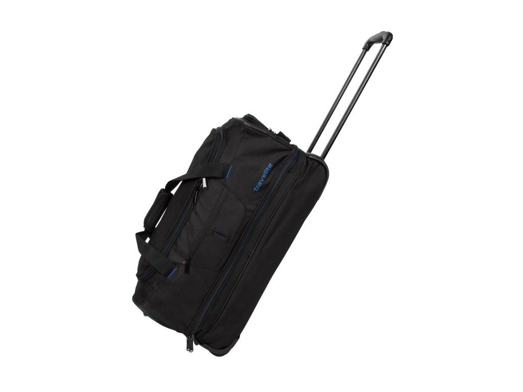 Travelite Basics Wheeled duffle S Black/blue