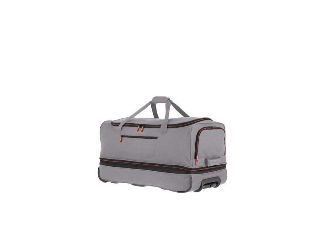 Travelite Basics Wheeled duffle L Grey/green  + LED svítilna