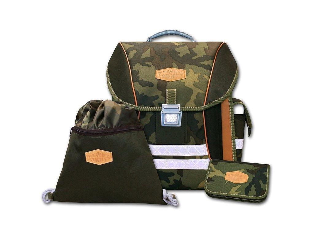 Školní batohový set Top Army 3-dílný  + Sluchátka, myš nebo pouzdro