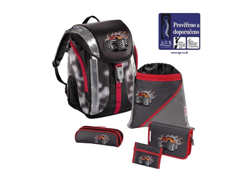 HAMA Školní batoh - set, Step by Step Flexline GIGANTIC WHEELS  + 5 % sleva po registraci + LED svítilna
