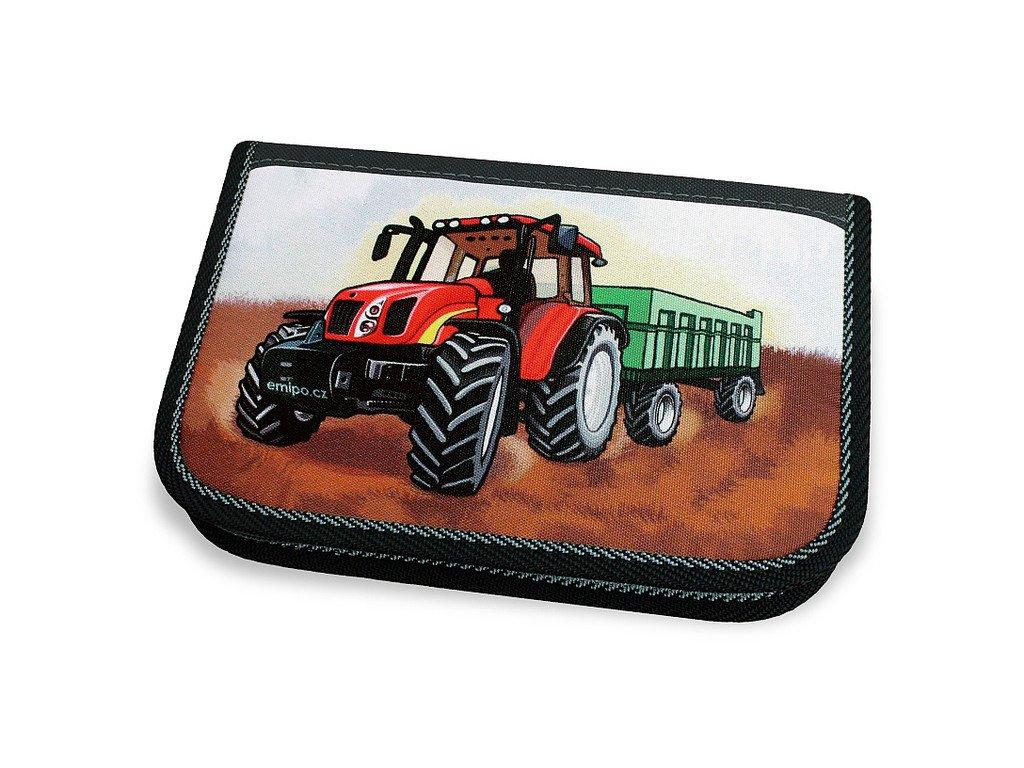 Školní penál 2-klopy Traktor (Varianta Neplněný penál)