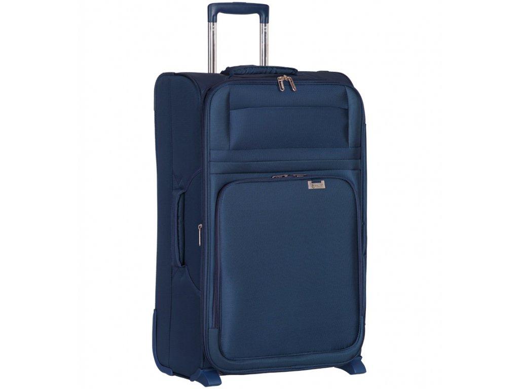 Cestovní kufr AEROLITE T-9515/3-M - tmavě modrá  + LED svítilna