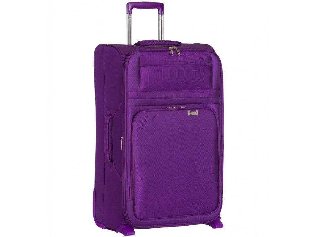 Cestovní kufr AEROLITE T-9515/3-M - fialová  + LED svítilna