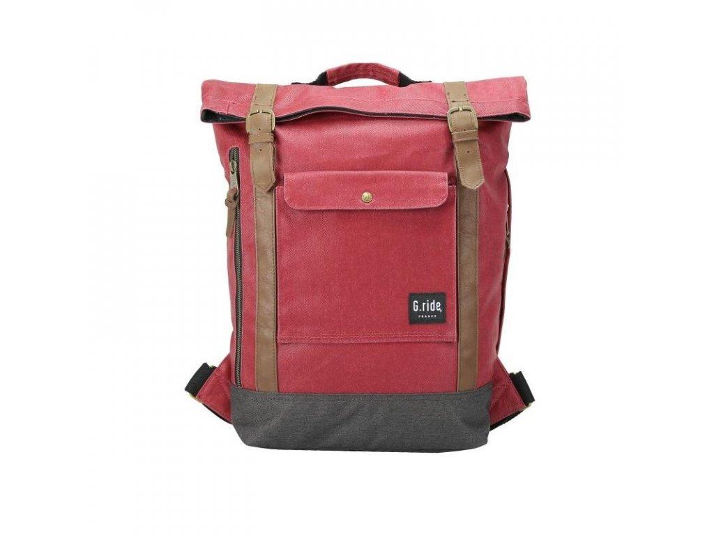 G.RIDE batoh BALTHAZAR red/black  + Sluchátka, myš nebo pouzdro