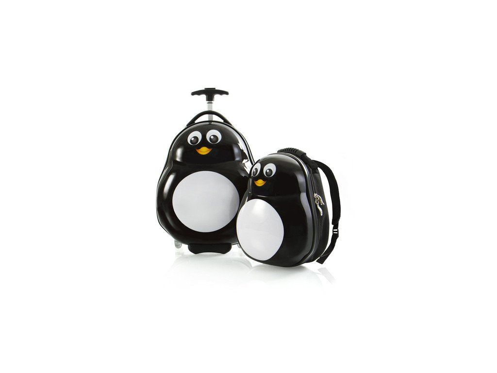 Heys Travel Tots Lightweight Kids Penguin – sada batohu a kufru  + LED svítilna
