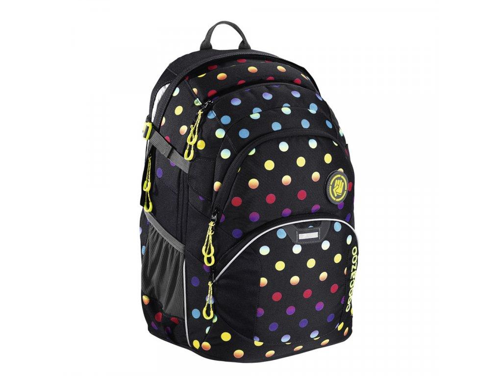 Školní batoh Coocazoo JobJobber2, Magic Polka Colorful  + 5 % sleva po registraci + LED svítilna