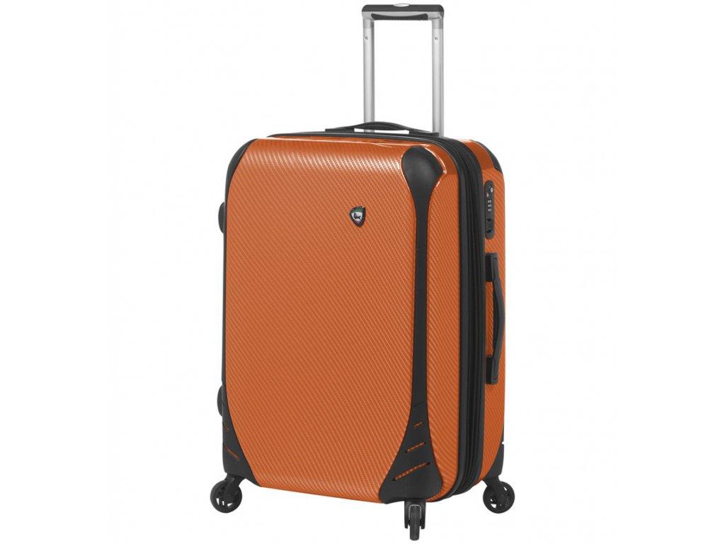 Kabinové zavazadlo MIA TORO M1021/3-S - oranžová  + LED svítilna