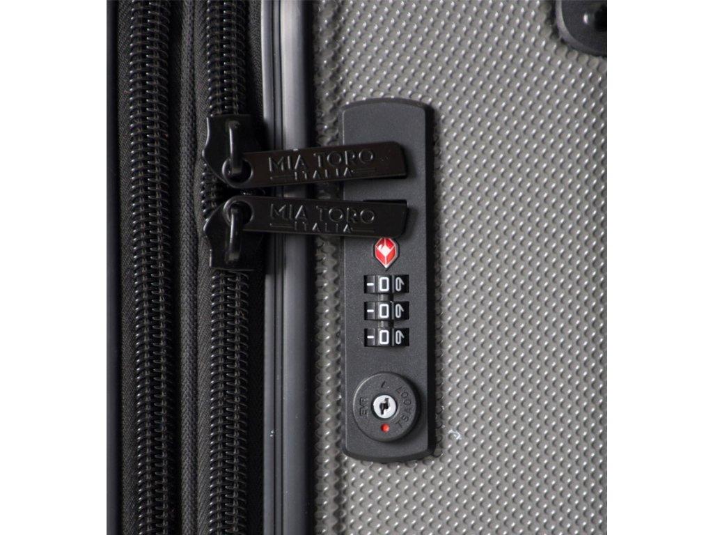 899a8ff1376 ... Cestovní kufr MIA TORO M1300 3-M - černá + LED svítilna 3W ...