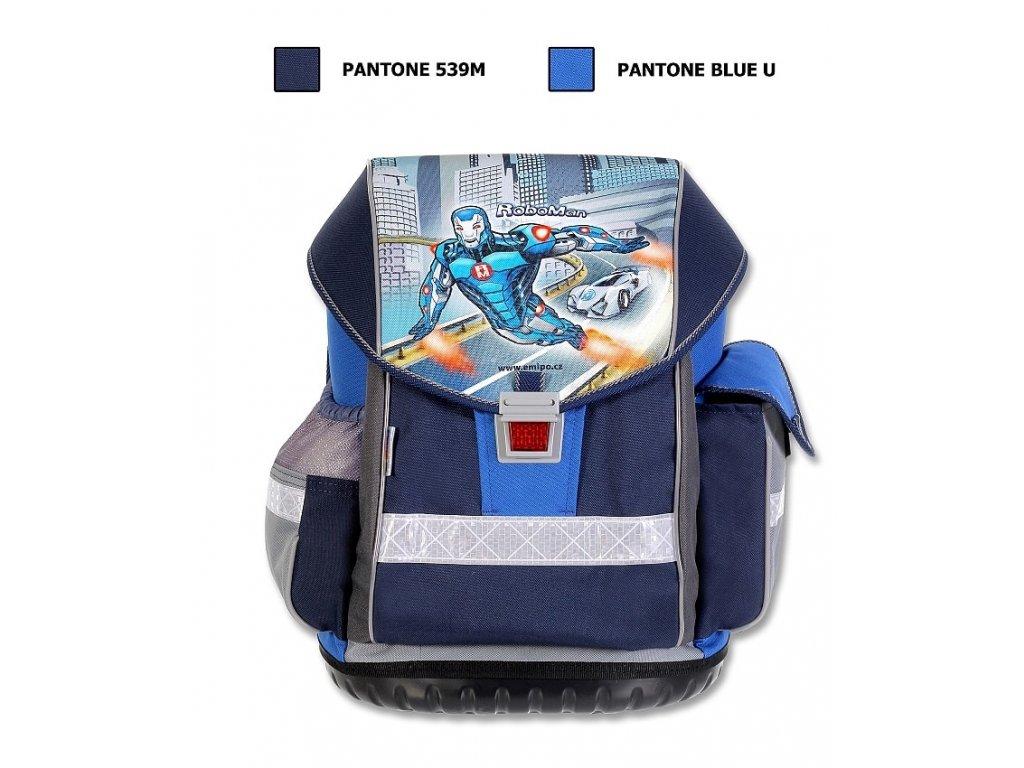Školní batoh ERGO TWO Roboman  + LED svítilna