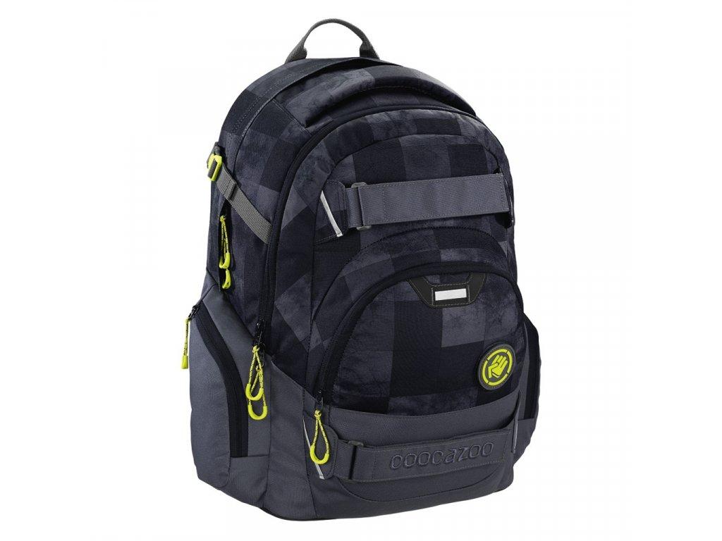 Školní batoh Coocazoo CarryLarry2, Mamor Check  + 5 % sleva po registraci + LED svítilna