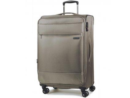 Cestovní kufr ROCK TR-0161/3-M - béžová  + LED čelová svítilna