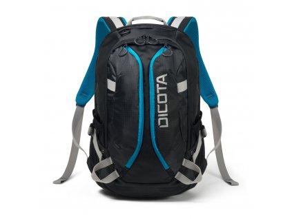 """Dicota Backpack Active 14-15,6"""" černo/modrá  + LED svítilna"""