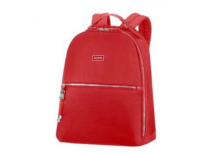"""Samsonite Karissa Biz Backpack 14,1"""" Formula Red  + Sluchátka, myš nebo pouzdro"""