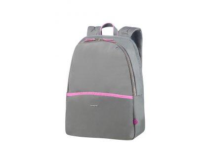 "Samsonite Nefti Backpack 14,1"" Rock Grey/Fuchsia  + LED svítilna"